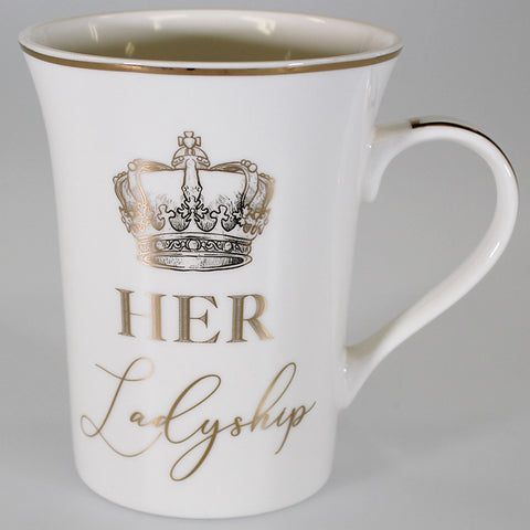 "Gold Look ""Her Ladyship"" China Mug"
