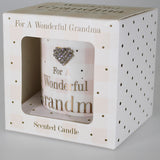 """For a Wonderful Grandma - You Mean the World to Me"" Scented Candle"