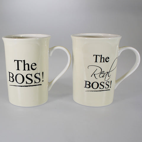 """The Boss"" & ""The Real Boss"" Mug Set of 2"