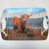 Highland Cow - Tray with Handles - Large