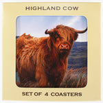 Highland Cow - Coasters - Set of 4