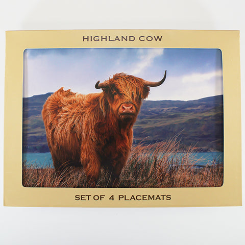 Highland Cow - Placemats - Set of 4