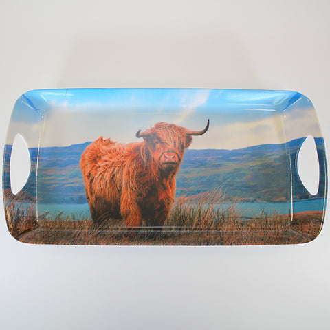 Highland Cow - Tray with Handles - Medium