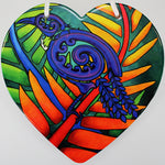 Bright Tui Ceramic Heart Wall Hanging