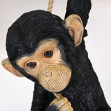 Chimpanzee Climbing Rope Hanging Sculpture