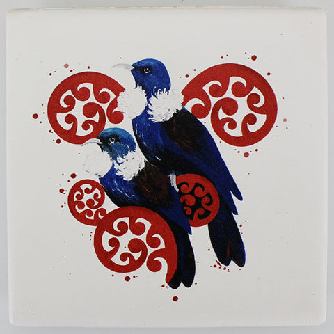 Ceramic Coaster - Tui Pair