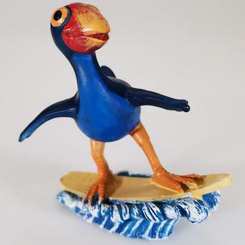 Pukeko Figure - Surfing