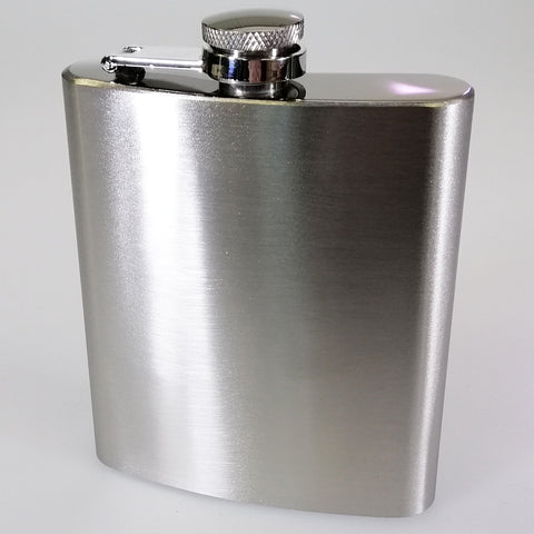Stainless Steel Hip Flask - 7oz - Engravable