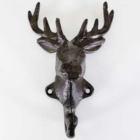 Cast Iron Stag's Head Hook