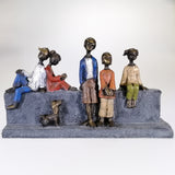 People on Wall Art Sculpture