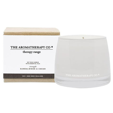The Aromatherapy Company - Therapy Range 'Strength' - Candle - Sandalwood & Cedar