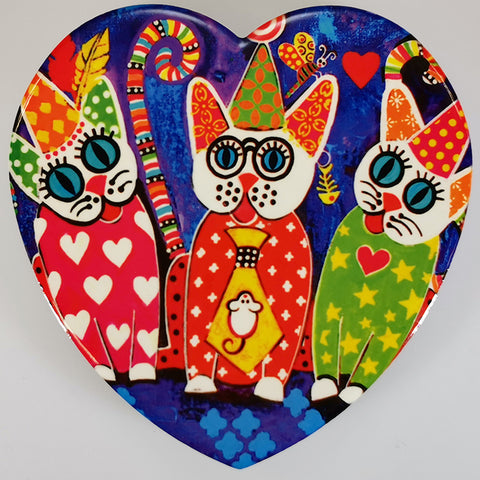 "Maxwell & Williams - Love Hearts ""Cup Cakes Cats"" - Coaster"