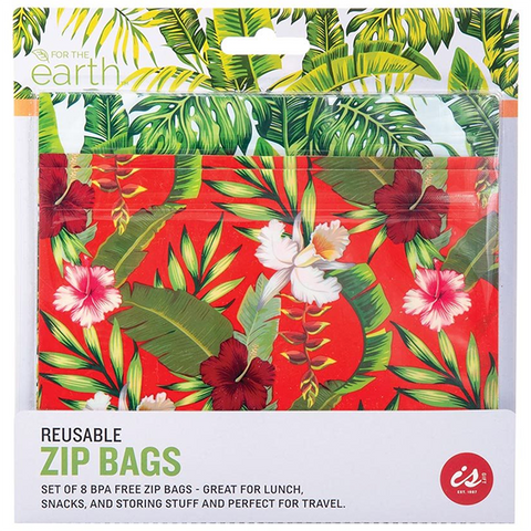 Reusable Zip Bags - Set of 8