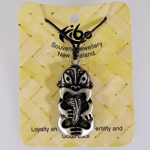 Pewter Pendant - Hei Tiki - Adjustable Necklace