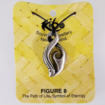 Pewter Pendant - Figure of Eight - Adjustable Necklace