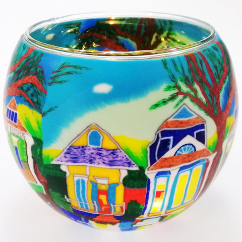 Glass Illusions 10cm Tea Light Shade - New Orleans Street