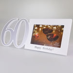 "60 ""Happy Birthday"" Picture Frame - 15cm x 10cm"