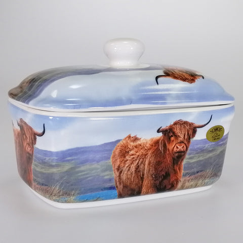 Highland Cow - Butterdish