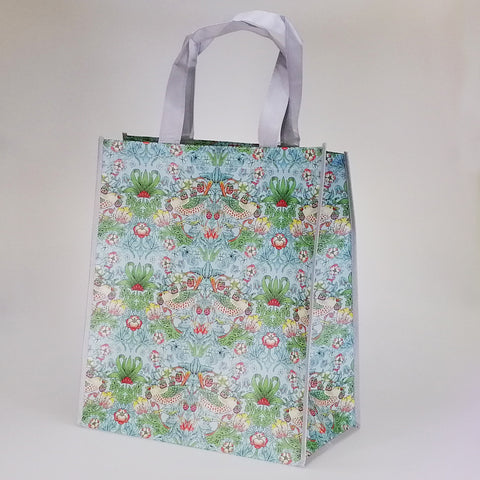Strawberry Thief Teal - Reusable Shopping Bag