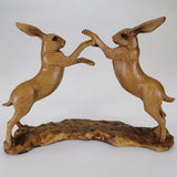 Two Hares Fighting - Animal Kingdom Collection
