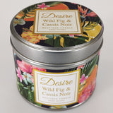 Desire Tropical Candle in Tin - Wild Fig & Cassis Noir