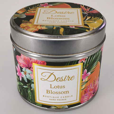 Desire Tropical Candle in Tin - Lotus Blossom
