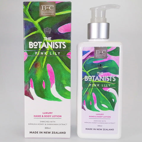 Banks & Co. The Botanists - Pink Lily - Luxury Hand & Body Lotion