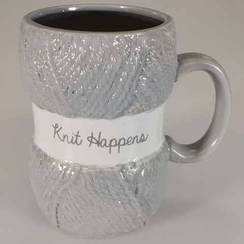 """Knit Happens"" - Boxed Mug"
