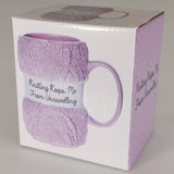 """Knitting Keeps Me..."" - Boxed Mug"