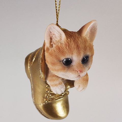 Hanging Ornament - Ginger Cat in Boot