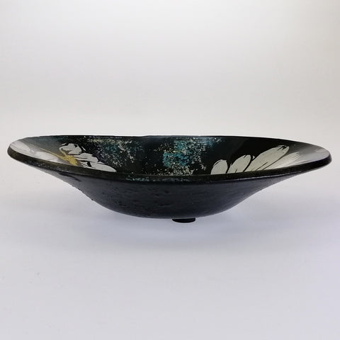 Small Oval Bowl - White Flowers