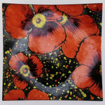 Glass Plate - Small Square - Red Poppies