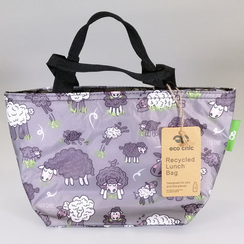 Eco Lunch Bag - Grey Sheep - 100% Recycled Material