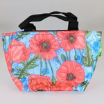 Eco Lunch Bag - Blue Poppies - 100% Recycled Material