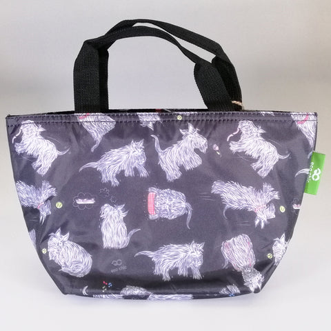 Eco Lunch Bag - Black Scottie Dog - 100% Recycled Material