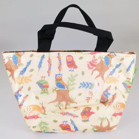 Eco Lunch Bag - Beige Owl - 100% Recycled Material
