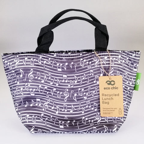 Eco Lunch Bag - Black Music - 100% Recycled Material