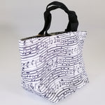 Eco Lunch Bag - White Music - 100% Recycled Material