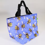 Eco Lunch Bag - Blue Bees - 100% Recycled Material