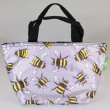 Eco Lunch Bag - Grey Bees - 100% Recycled Material