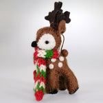 Christmas Tree Ornament - Felt Reindeer - Brown