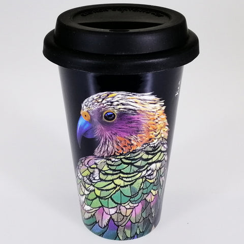 "Bone China Travel Mug - ""Kea"""