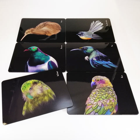 "Placemats - ""Majestic Birds of Aotearoa"" - Set of 6"