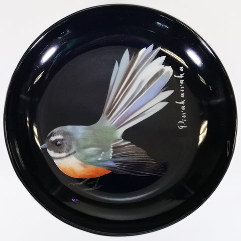 "Bone China Trinket Dish - ""Piwakawaka"""