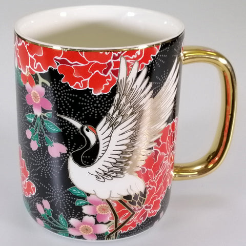 Osaka Collection - Black Cranes - Mug