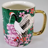 Osaka Collection - Emerald Cranes - Mug