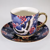 Osaka Collection - Blue Cranes - Tea Cup and Saucer