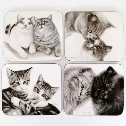 Feline Friends - Coasters - Boxed Set of 4