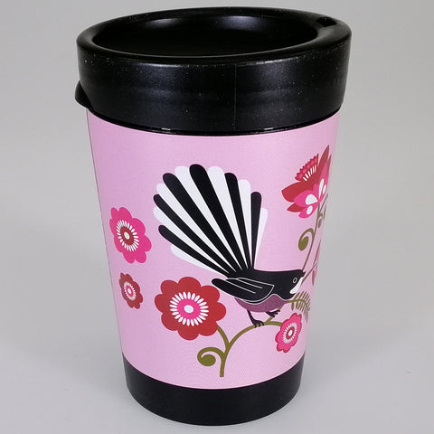 Pink Fantail - Reusable Coffee Cup
