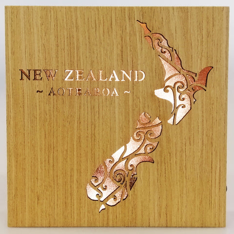 LED Kiwiana Block - 'New Zealand - Aotearoa'